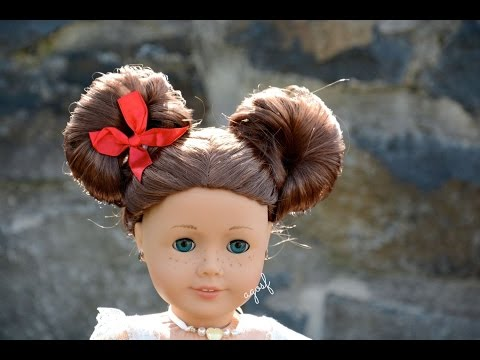 American Girl Doll Disney Hairstyle Minnie Mouse Buns ~Inspired by Cutegirlshairstyles~ HD