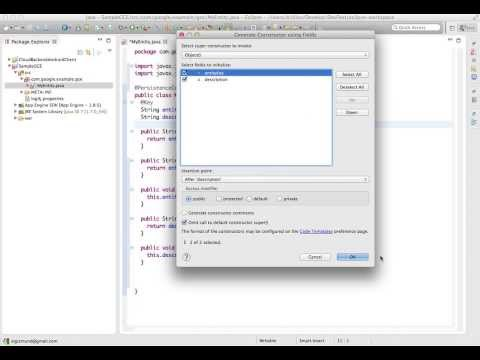Building Google Cloud Endpoints API for a simple entity