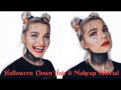 Halloween Clown Hair & Makeup Tutorial | LoveFings