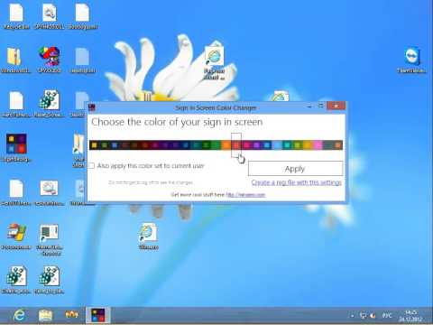Sign in Screen Color Changer for Windows 8