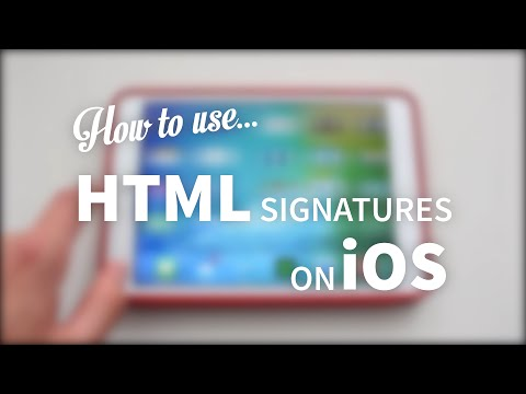 Use HTML Email Signatures on iOS