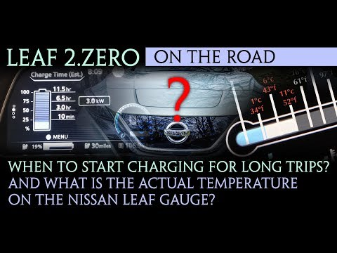Nissan Leaf 40kWh 2018 - Optimum charging percent and uncovering the temperature gauge.