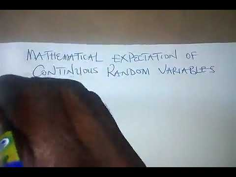 Mathematical expectation of continuous random variables