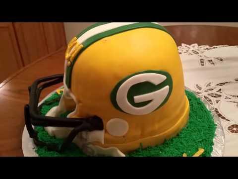 Green Bay Packers NFL Football Helmet Cake