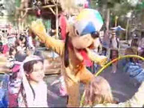 Dancing with Pluto at Disneyland