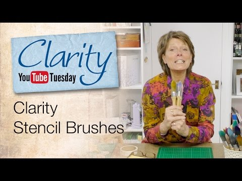 Clarity Stencil Brushes How To
