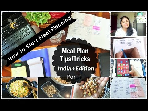 Meal Planning || 12 Tips For Beginners | Indian Weekly Meal Planning in Hindi