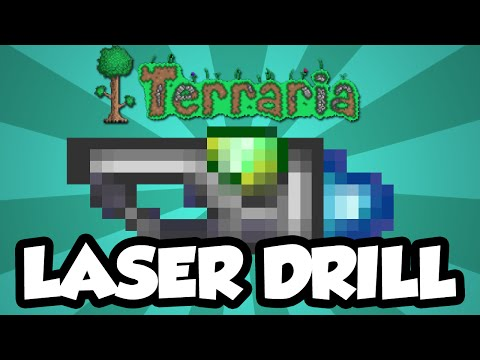 Terraria 1.3 Items - The Laser Drill - The Best Drill In The Game? Terraria 1.3 Drill / Axe