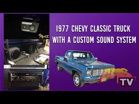 Project 4 Chevy Classic Truck 1977 with a custom Sound System