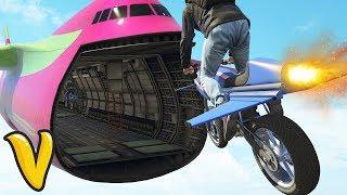 GTA V STUNTS & FAILS! :: GTA V GUN RUNNING Oppressor Flying Bike & Moblie Operations Center