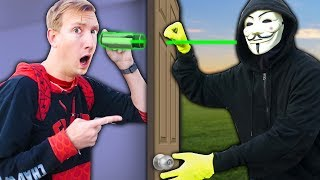 PROJECT ZORGO is SPYING on our SAFE HOUSE vs NINJA GADGET MYSTERY BOX (Unboxing Haul Challenge)