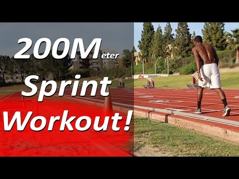 How To Run Faster 200 Meters x 6 - Sprint Workout!