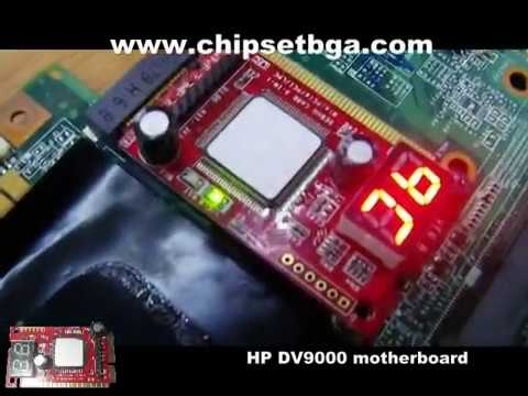 Test laptop motherboard (Debug card 3 in 1)