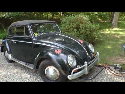 Classic VW BuGs Resto Road Trip 1954 Convertible Beetle Barn Garage Find