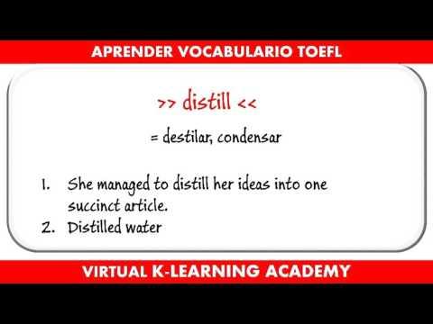 Preparación TOEFL #3 - Aprender vocabulario en Inglés
