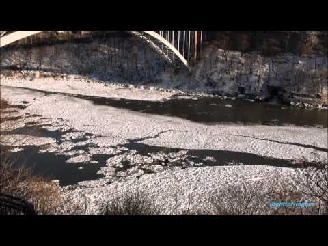 What the Niagara River looks like 2 days before an Ice Bridge forms