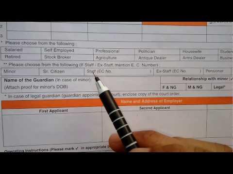 How to fill Bank of Baroda Saving bank account opening form[ Part 1 ]    HD    simplified in Hindi
