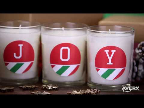 How to Make DIY Candle Gifts with Avery®