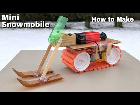 How to Make Mini Electric Snowmobile
