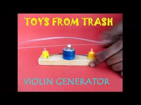 VIOLIN GENERATOR - HINDI - Motor as Generator!
