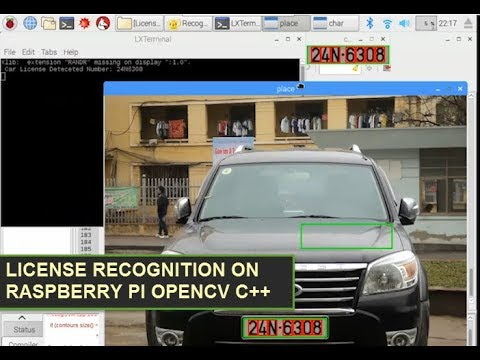 License Plate Recognition Raspberry Pi OpenCV C++ use SVM