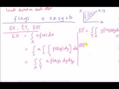 Continuous multivariate distributions - limits for double integration part 1