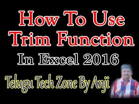 How to Use Trim Function In Excel 2016 In Telugu   Excel Formulas In Telugu