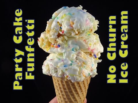 Party Cake/Funfetti No-Churn Ice Cream- with yoyomax12