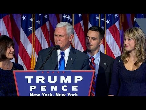 VP-elect Mike Pence to take over Trump transition team