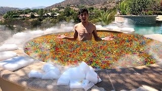 5,000,000 ORBEEZ IN MY HOT TUB VS DRY ICE EXPERIMENT!!