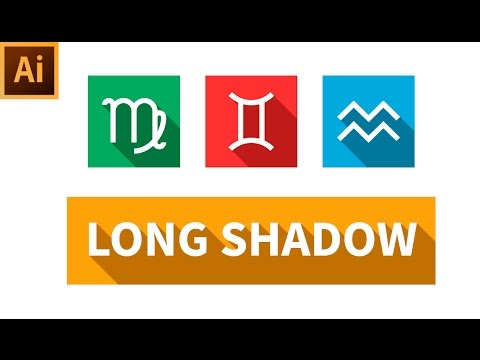 How to Create Long Shadow for Icons - Adobe Illustrator