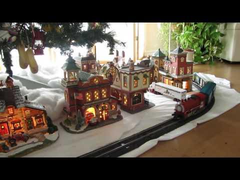 2016 Village Train under the Christmas Tree