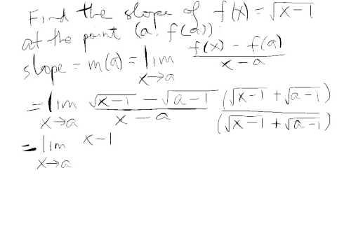 Slope function example