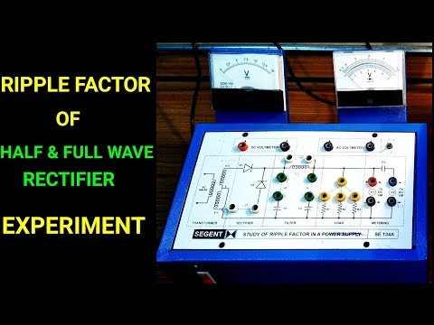 Ripple Factor of Rectifier - Experiment | Hindi