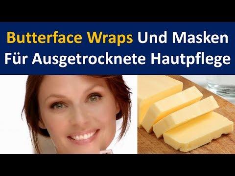 Butter Face Packungen und Masken für die Pflege der trockenen Haut zu Hause