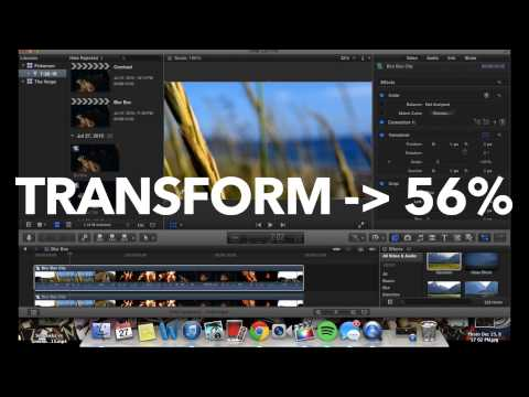 How to Blur Box Crop Vine:Instagram Videos without buying SquareReady App Final Cut Pro