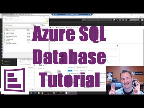 Azure SQL Database tutorial with an end result of a working PowerApps app