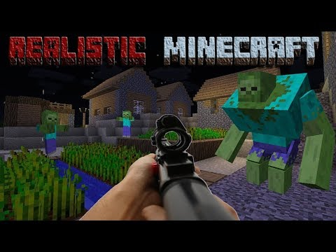 REALISTIC MINECRAFT - ZOMBIE APOCALYPSE - MARIO STEVE SAVES THE VILLAGERS FROM 1000 ZOMBIES