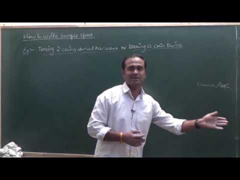 Random Experiment & Sample space   Probability CBSE 11 Maths NCERT Ex 16.1 intro