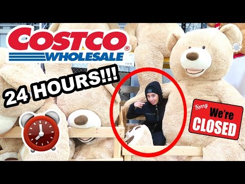 24 HOUR OVERNIGHT IN COSTCO !!! ⏰  FORT CHALLENGE 🚨
