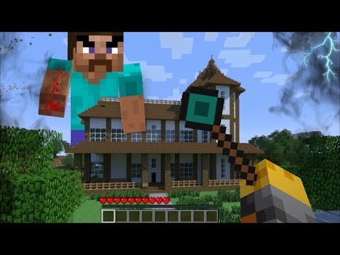 GIANT STEVE APPEARS IN MY HOUSE IN MINECRAFT !! Minecraft Mod