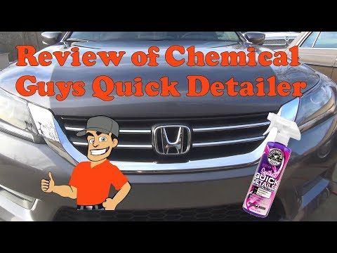 Test and review of Chemical Guys Synthetic Quick Detailer