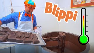 Learn Food For Kids | Blippi And The Chocolate Factory | Educational Videos For Children