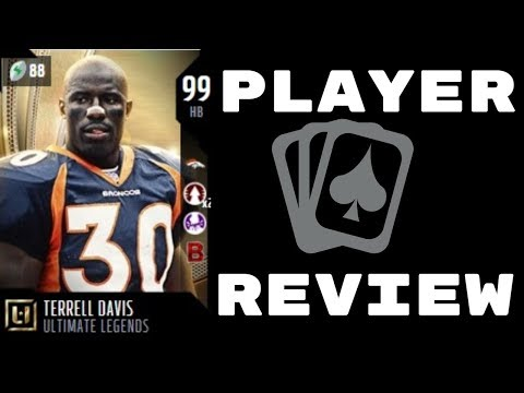 Ultimate Legend Terrell Davis | Player Review | Madden 18 Ultimate Team Gameplay