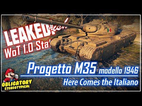 LEAKED!-ish Progetto M35 modello 1946 Stats || World of Tanks