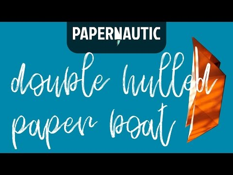 How to make an easy double-hulled paper boat [folding instructions]