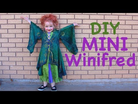 How To Make A Mini Winifred Sanderson Costume For Little Girls! Hocus Pocus Halloween Cosplay!