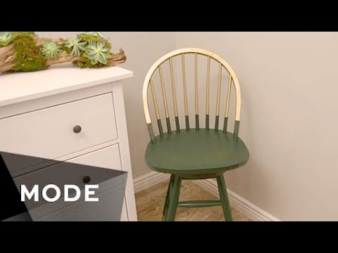 DIY Gold-Dipped Chair   Right at Home ★ Glam.com