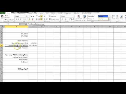 How To Subtract Dates In Excel 2010