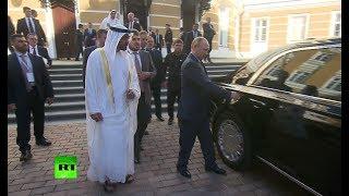 Putin shows off his new Cortege limo to Abu Dhabi Crown Prince